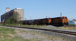 110 car trains combine grain from many farms