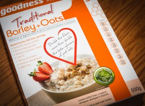 Australian breakfast cereal containing high-invisible fibre barley