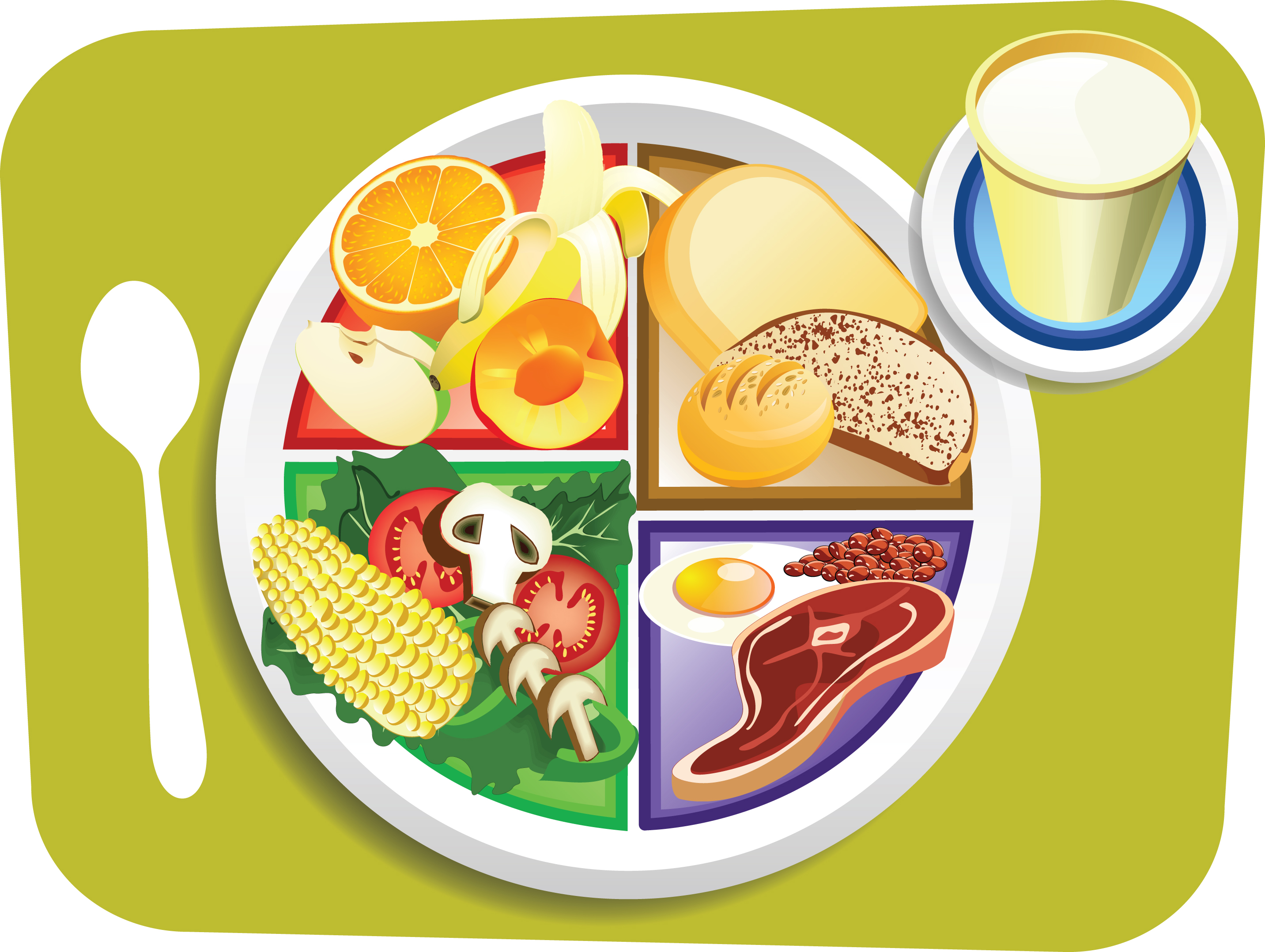 Artist rendition of MyPlate food guidelines